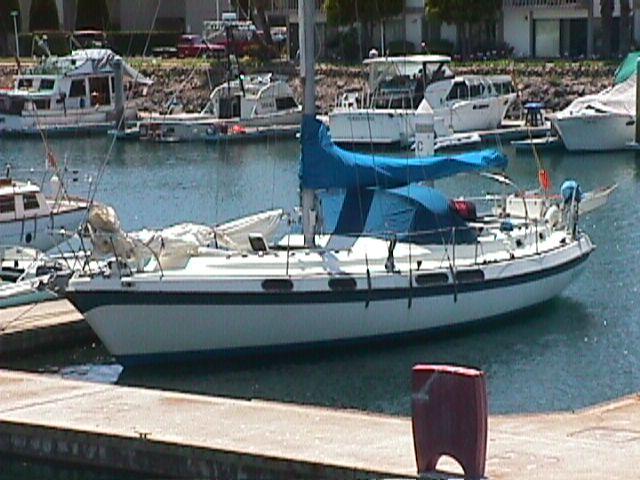 My new old Morgan OutIsland 41, a sloop rigged full keel sailboat.